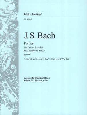 Oboenkonzert g-moll nach BWV 1056 u. 156 - Oboe Klavier laflutedepan
