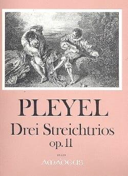 3 Streichtrios op. 11 -Stimmen Ignaz Pleyel Partition laflutedepan