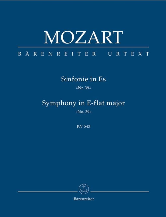 Symphonie Nr. 39 Es-Dur KV 543 - Partitur - MOZART - laflutedepan.com