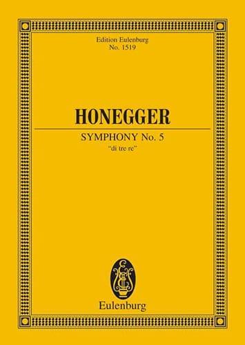 Sinfonie N° 5 - HONEGGER - Partition - Petit format - laflutedepan.com