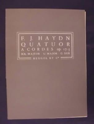 Quatuor à cordes op. 17 n° 5 sol majeur - Conducteur - laflutedepan.com