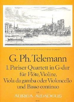 Pariser Quartett Nr. 1 G-Dur -Flöte Violine Viola da gamba BC laflutedepan