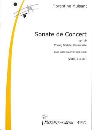 Sonate de concert Op. 19 Florentine Mulsant Partition laflutedepan