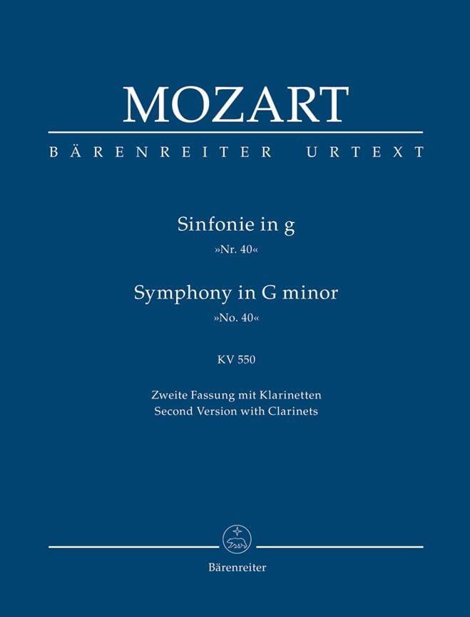Symphonie Nr. 40 g-moll KV 550 2. Fassung - Partitur - laflutedepan.com