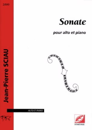 Sonate - Jean-Pierre Sciau - Partition - Alto - laflutedepan.com
