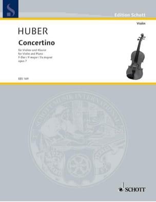 Schüler-Concertino F-Dur op. 7 Adolf Huber Partition laflutedepan