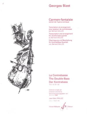 Carmen-Fantaisie - 4 Contrebasses BIZET Partition laflutedepan
