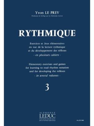 Rythmique - Volume 3 Prev Yvon Le Partition Solfèges - laflutedepan