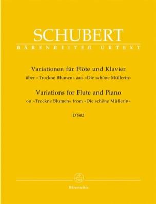 Variationen über Trockne Blumen D. 802 - Flöte Klavier laflutedepan