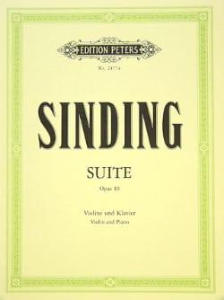 Suite op. 10 Christian Sinding Partition Violon - laflutedepan