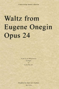 TCHAIKOVSKY - Waltz From Eugene Onegin Opus 24 - Partition - di-arezzo.co.uk