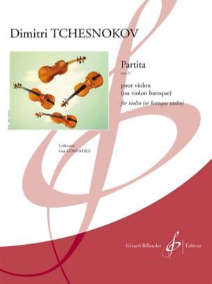 Partita - Opus 21 Dimitri Tchesnokov Partition Violon - laflutedepan