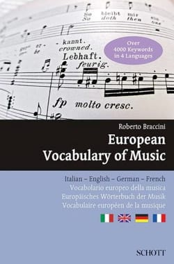 European Vocabulary of Music Roberto Braccini Livre laflutedepan