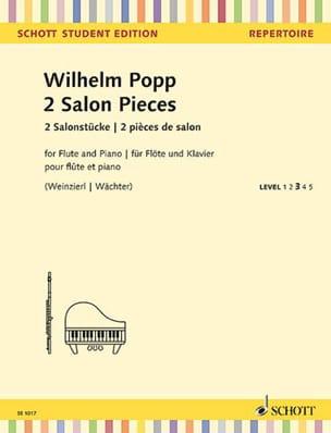 2 Pièces de Salon 2 Salon Pieces Wilhelm Popp Partition laflutedepan