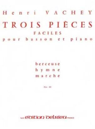 3 Pièces faciles - Henri Vachey - Partition - laflutedepan.com