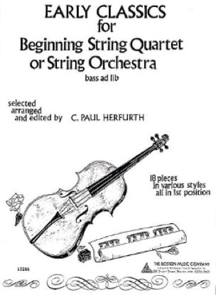 Early Classics For Beginning String Quartet or String Orchestra - laflutedepan.com