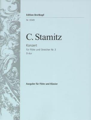 Flötenkonzert N° 3 D-Dur STAMITZ Partition laflutedepan