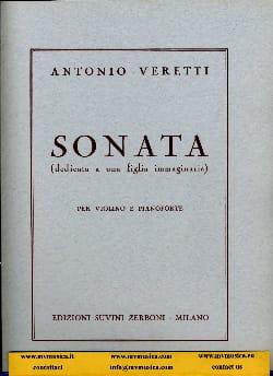 Sonata - Antonio Veretti - Partition - Violon - laflutedepan.com
