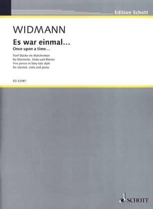 Es war einmal... - Jörg Widmann - Partition - Trios - laflutedepan.com