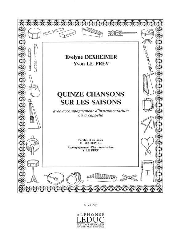 15 Chansons Sur Les Saisons - Le Prev/dexheimer - laflutedepan.com