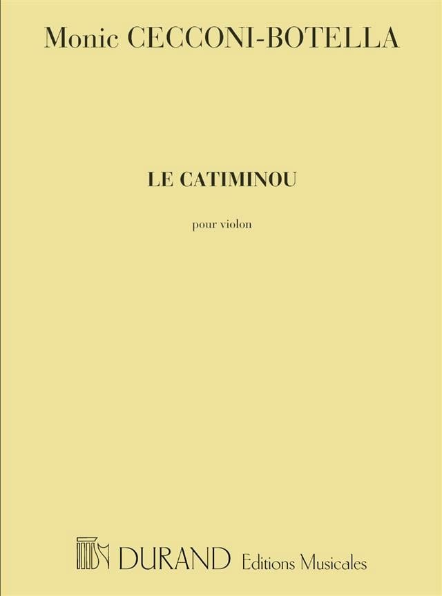 Le Catiminou - Monic Cecconi-Botella - Partition - laflutedepan.com