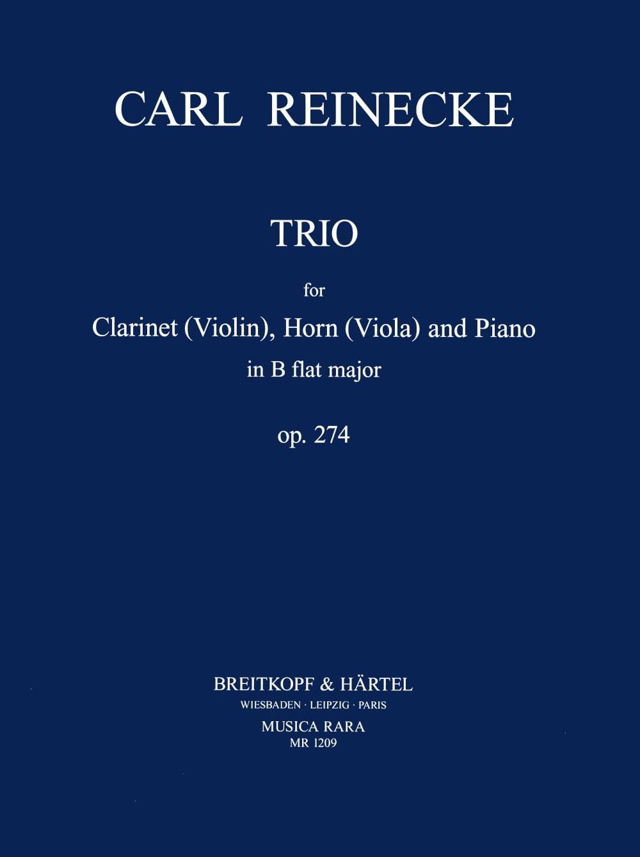 Trio in B Flat op. 274 -Clarinet horn viola piano - laflutedepan.com
