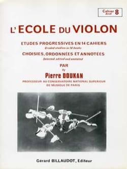 Pierre Doukan - El volumen 8 de la escuela de violín - Partition - di-arezzo.es