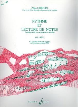 Rythme et Lecture de Notes Volume 3 Alain Grimoin laflutedepan