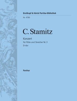 Konzert für Flöte Nr. 3 D-Dur - Partitur STAMITZ laflutedepan