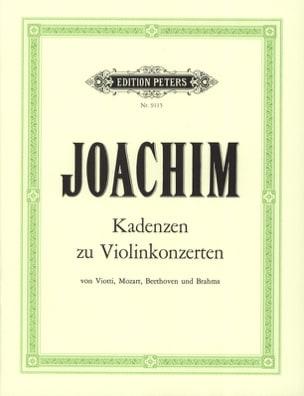 Kadenzen zu Violinkonzerten Joseph Joachim Partition laflutedepan