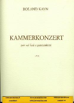 Kammerkonzert Roland Kayn Partition Grand format - laflutedepan