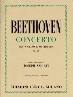 Concerto pour Violon op. 61 BEETHOVEN Partition Violon - laflutedepan