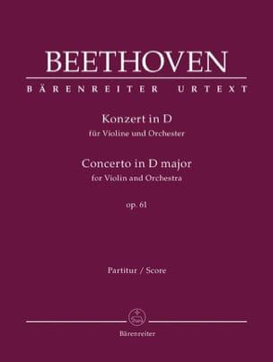 Concerto En Ré Maj. Op. 61 Pour Violon et Orchestre laflutedepan