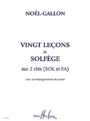 20 Leçons de Solfège - 2 Clés sol et fa - laflutedepan.com