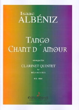 Tango, Chant D'amour - ALBENIZ - Partition - laflutedepan.com