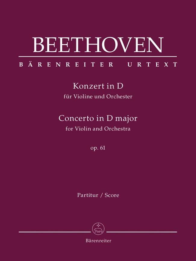 Concerto En Ré Maj. Op. 61 Pour Violon et Orchestre - laflutedepan.com