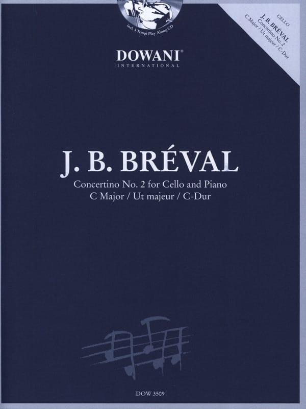 Concertino N° 2 en Ut Maj. - Jean-Baptiste Bréval - laflutedepan.com