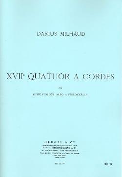 Quatuor à cordes n° 17 - Parties - MILHAUD - laflutedepan.com
