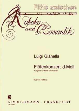 Concerto Pour Flûte en Ré Mineur Luigi Gianella Partition laflutedepan