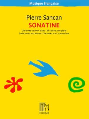 Sonatine pour clarinette et piano Pierre Sancan Partition laflutedepan