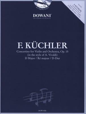 Concertino en Ré Maj. Op.15 Ferdinand Küchler Partition laflutedepan