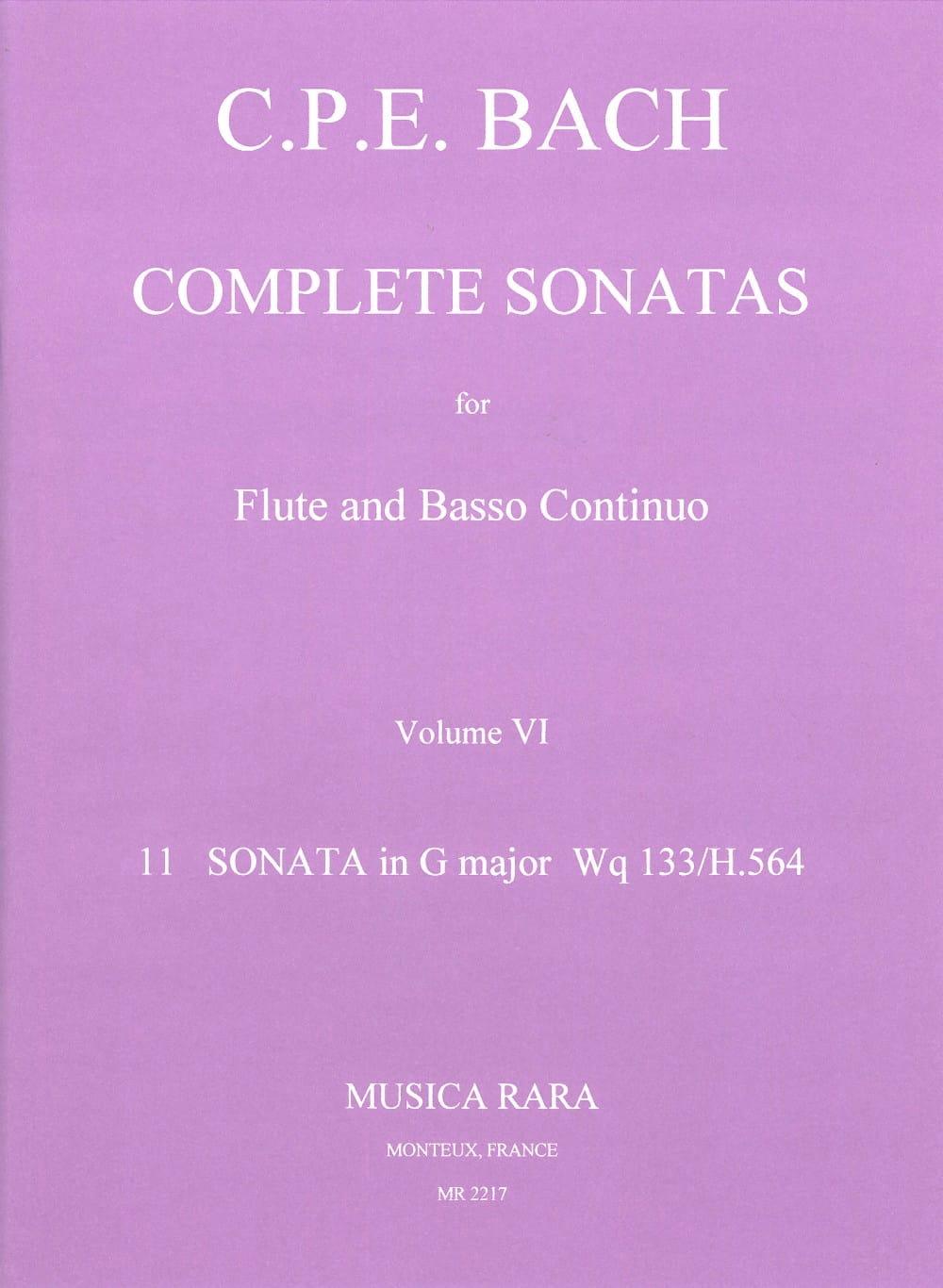 Complete sonatas Volume 6 - Flute Bc - laflutedepan.com