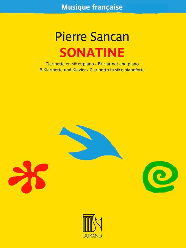 Sonatine pour clarinette et piano - Pierre Sancan - laflutedepan.com