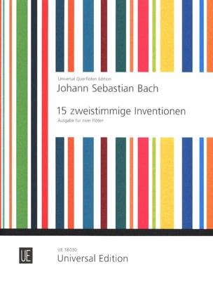 15 Zweistimmige Inventionen - 2 Flöten BACH Partition laflutedepan