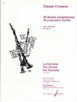 20 Etudes progressives Claude Crousier Partition laflutedepan
