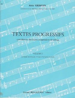 Textes progressifs - Volume 1 Alain Grimoin Partition laflutedepan