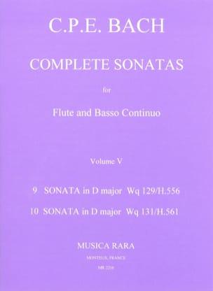 Complete sonatas Volume 5 - Flute Bc - laflutedepan.com