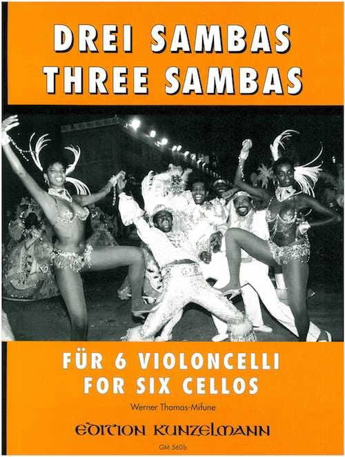 3 Sambas - 6 Cellos - Werner Thomas-Mifune - laflutedepan.com