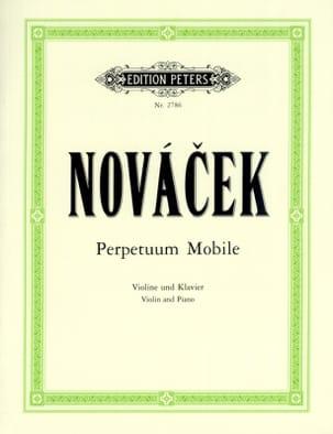 Perpetuum mobile Ottokar Novacek Partition Violon - laflutedepan