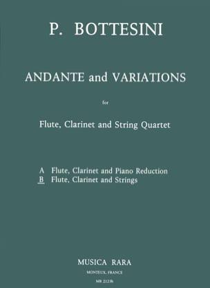 Andante and Variations - Flute clarinet string quartet - Score + Parts laflutedepan